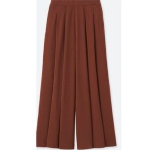 Brown Maroon Flare Wide Pants
